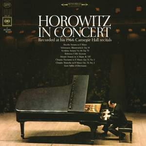 Horowitz in Concert - Recorded at his 1966 Carnegie Hall Recitals