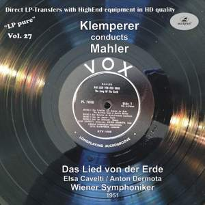 LP Pure, Vol. 27: Klemperer Conducts Mahler