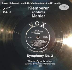 LP Pure, Vol. 26: Klemperer Conducts Mahler (Recorded 1951)