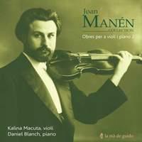 Joan Manén. Violin & Piano works 2