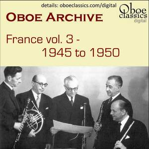 Oboe Archive, France, Vol. 3 Product Image