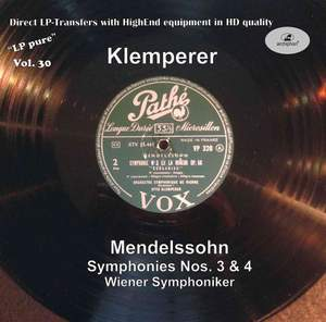 LP Pure, Vol. 30: Klemperer Conducts Mendelssohn