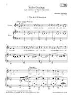 Zemlinsky A: Six Songs op. 13 Product Image