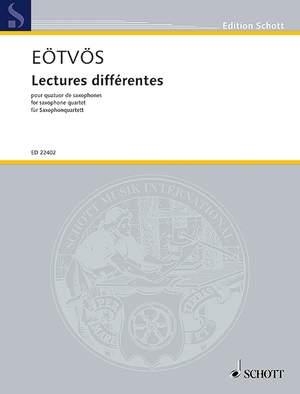 Eötvös, P: Lectures différentes