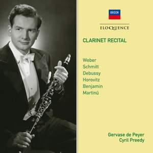 Gervase de Peyer: Clarinet Recital