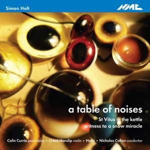Simon Holt: a table of noises