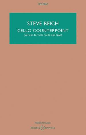 Reich, S: Cello Counterpoint