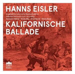 Hanns Eisler: Kalifornische Ballade Product Image