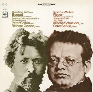 Music from Marlboro - Busoni: Fantasia Contrappuntistica for Two Pianos / Reger: Cello Sonata Product Image