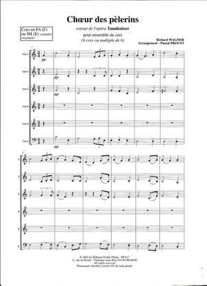 Richard Wagner: Choeur Des Pelerins