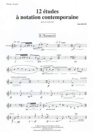 Eric Hulin: 12 Études à Notation Contemporaine