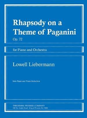 Lowell Liebermann: Rhapsody On A Theme Of Paganini