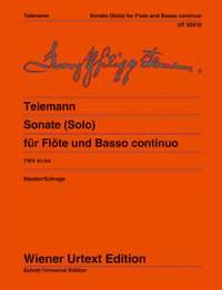 Telemann, G P: Sonate (Solo) TWV 41:h4