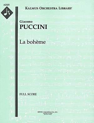 Puccini, Giacomo: La Boheme - Original Orchestration