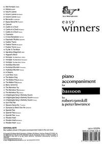 Easy Winners Piano Accompaniment for Bassoon, Mini-bassoon and Tenoroon
