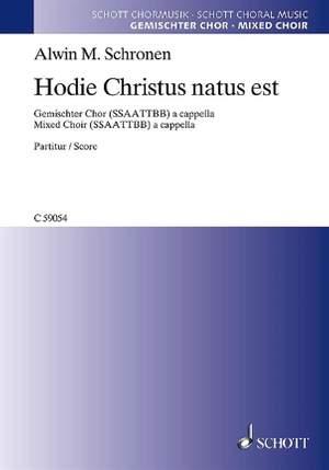 Schronen, A M: Hodie Christus natus est