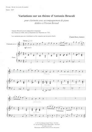 Claude-Henry Joubert: Variations Sur Un Thème D'A. Brocoli