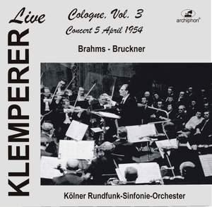 Klemperer Live: Cologne, Vol. 3 — Concert 5 April 1954