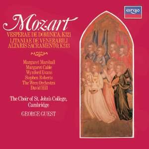 Mozart: Vesperae de Dominica & Litaniae de venerabili altaris sacramento