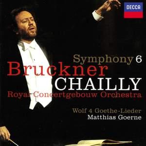 Bruckner: Symphony No. 6 & Wolf: Four Goethe Songs Product Image