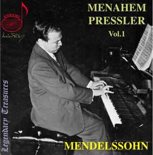 Menahem Pressler, Vol. 1: Mendelssohn