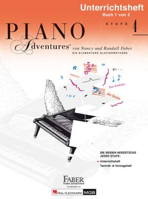 Nancy Faber_Randall Faber: Piano Adventures: Unterrichtsheft Stufe 4 Product Image