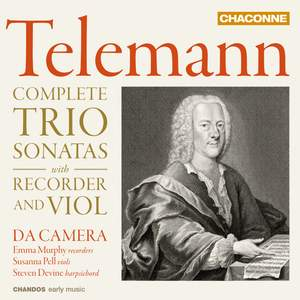 Telemann: Complete Trio Sonatas with Recorder and Violin Product Image