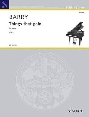 Barry, G: Things that gain