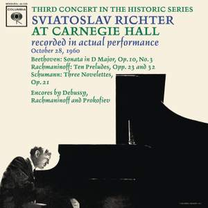 Sviatoslav Richter Recital - Live at Carnegie Hall, October 28, 1960