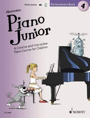 Heumann, H: Piano Junior: Performance Book 4 Vol. 4