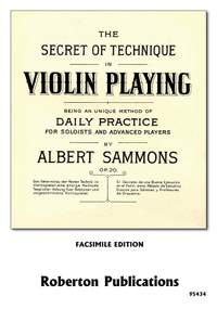 Sammons: The Secret of Technique in Violin Playing