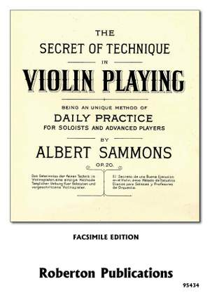 Sammons: The Secret of Technique in Violin Playing Product Image
