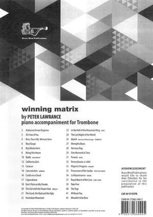 Winning Matrix Piano Accompaniment for Trombone