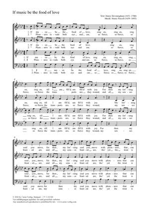 Purcell, Henry: If music be the food of love Z