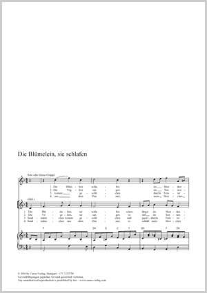 Zuccalmaglio, Anton Wilhelm: Die Blümelein, sie schlafen