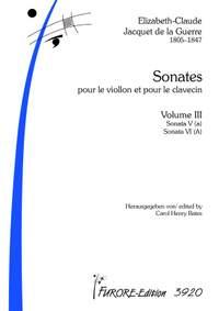Élisabeth-Claude Jacquet de La Guerre: Sonates Nos.5+6
