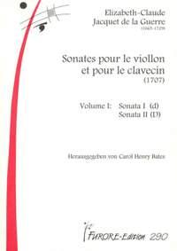Élisabeth-Claude Jacquet de La Guerre: Sonates Pour Le Violon et Pour Le Clavecin Vol. 1