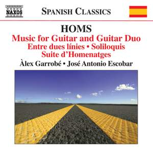 Joachim Homs: Music for Guitar and Guitar Duo