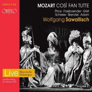 Mozart: Cosi fan tutte, K. 588 (Live)