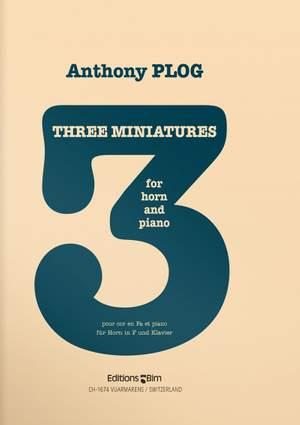 Anthony Plog: 3 Miniatures Product Image