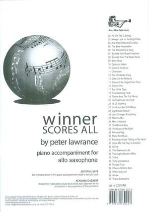 Winner Scores All Piano Accompaniment for Alto Saxophone