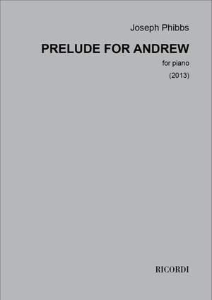 Joseph Phibbs: Prelude for Andrew