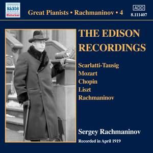 Rachmaninov: The Edison Recordings, April 1919
