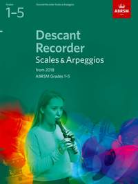 ABRSM: Descant Recorder Scales & Arpeggios, Grades 1-5 from 2018