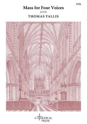 Tallis: Mass for Four Voices SATB Version Product Image