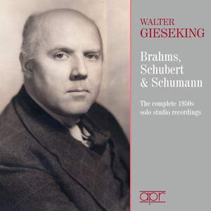 Brahms, Schumann & Schubert:The 1950s Solo Studio Recordings