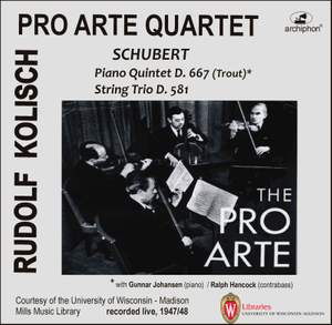 Schubert: Piano Quintet 'Trout' & String Trio, D. 581 Product Image