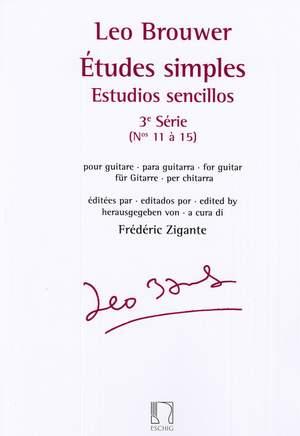 Leo Brouwer: Etudes simples - Estudios sencillos (Série 3)
