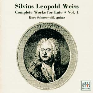 Weiss: Complete Works For Lute Vol. 1