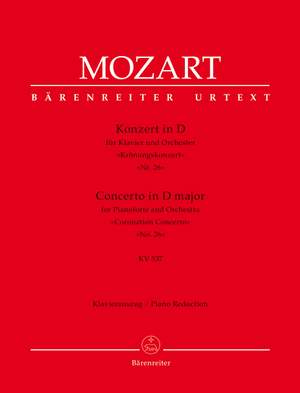 """Mozart, Wolfgang Amadeus: Concerto for Pianoforte and Orchestra no. 26 in D major K. 537 """"Coronation Concerto"""""""